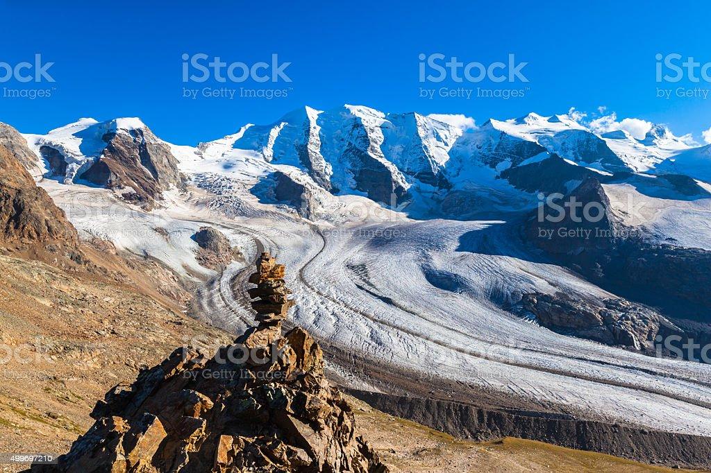 Piz Bernina, Moteratsch Glacier, Engadine, Switzerland  № 1473621 бесплатно