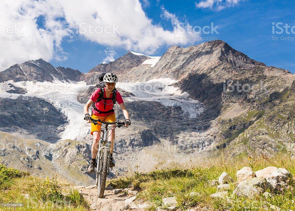 Bernina Mountainbiking, Switzerland stock photo
