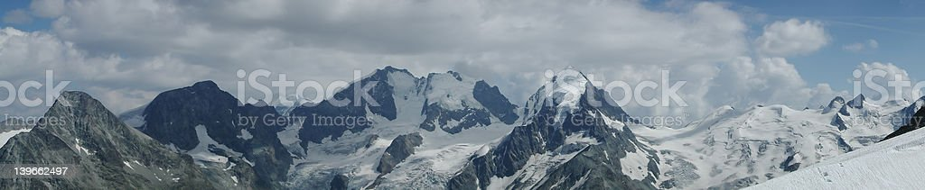 bernina panorama (switzerland) stock photo
