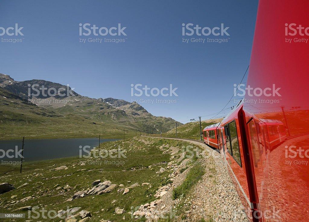 Bernina pass by train royalty-free stock photo