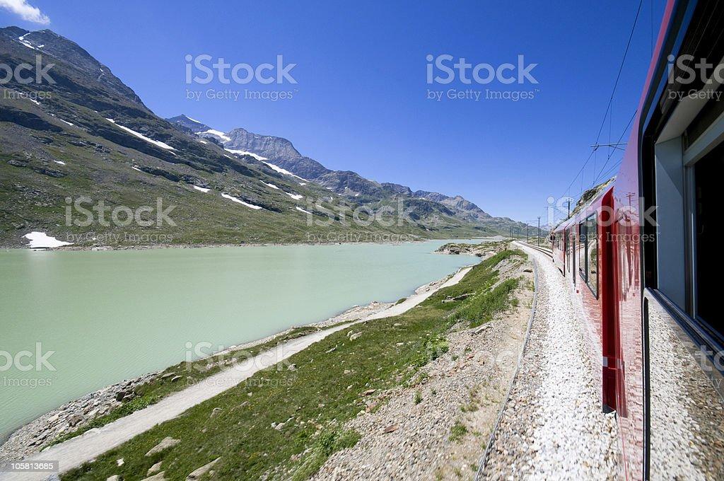 Bernina Pass royalty-free stock photo