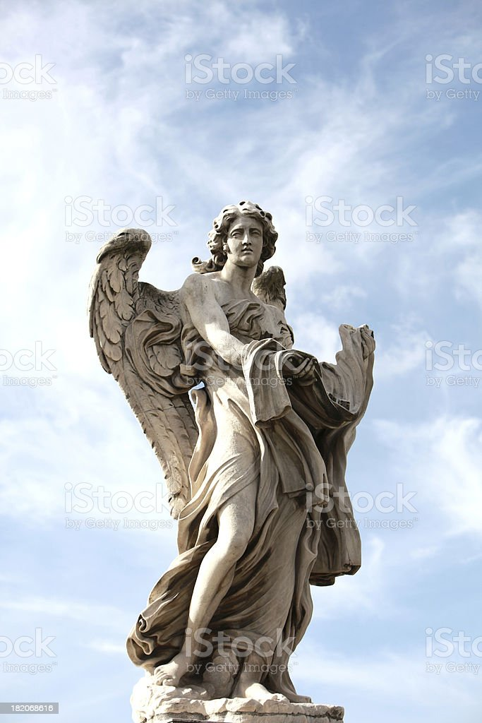 Bernini Angel in Rome, Italy royalty-free stock photo