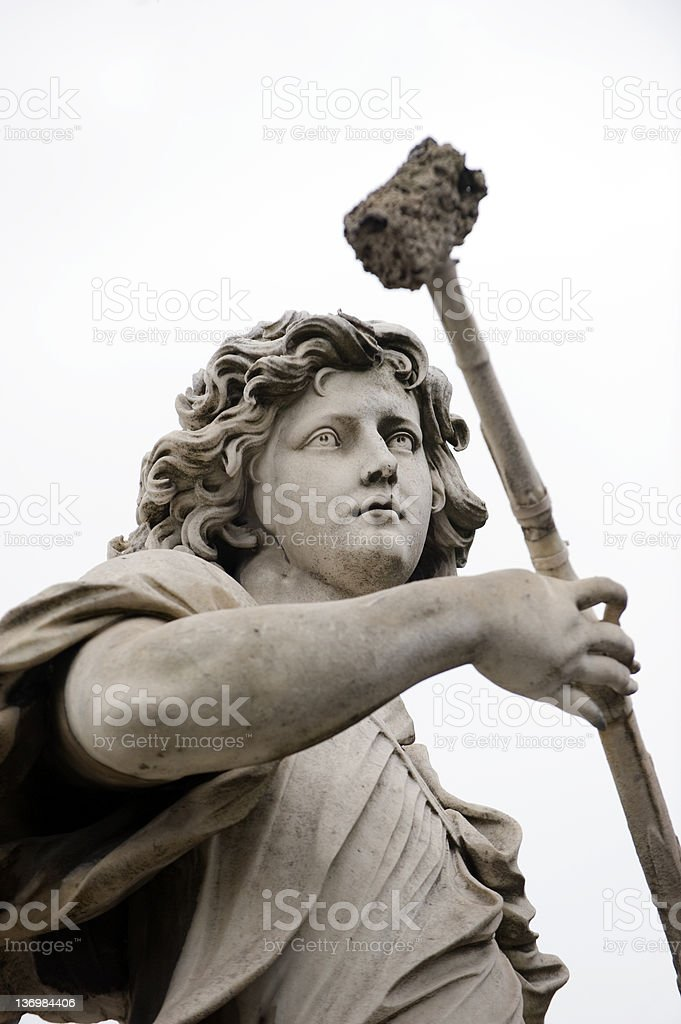 Bernini angel in Rome stock photo