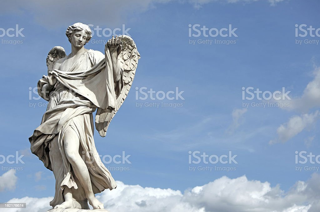 Bernini Angel on the clouds stock photo