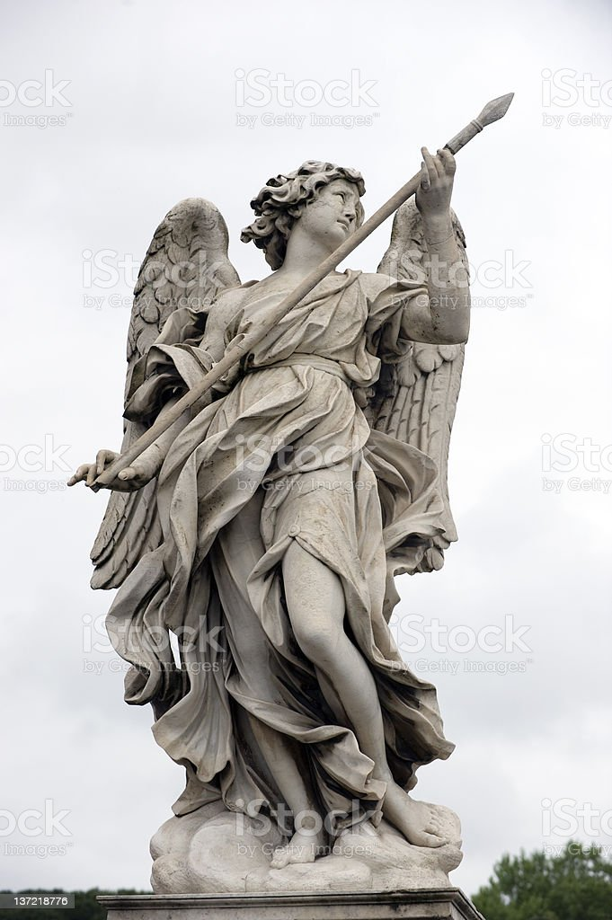 Bernini angel stock photo