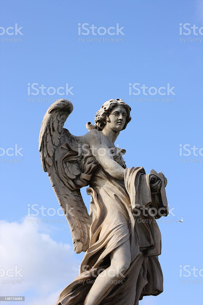 Bernini angel sculpture on San Angelo bridge royalty-free stock photo