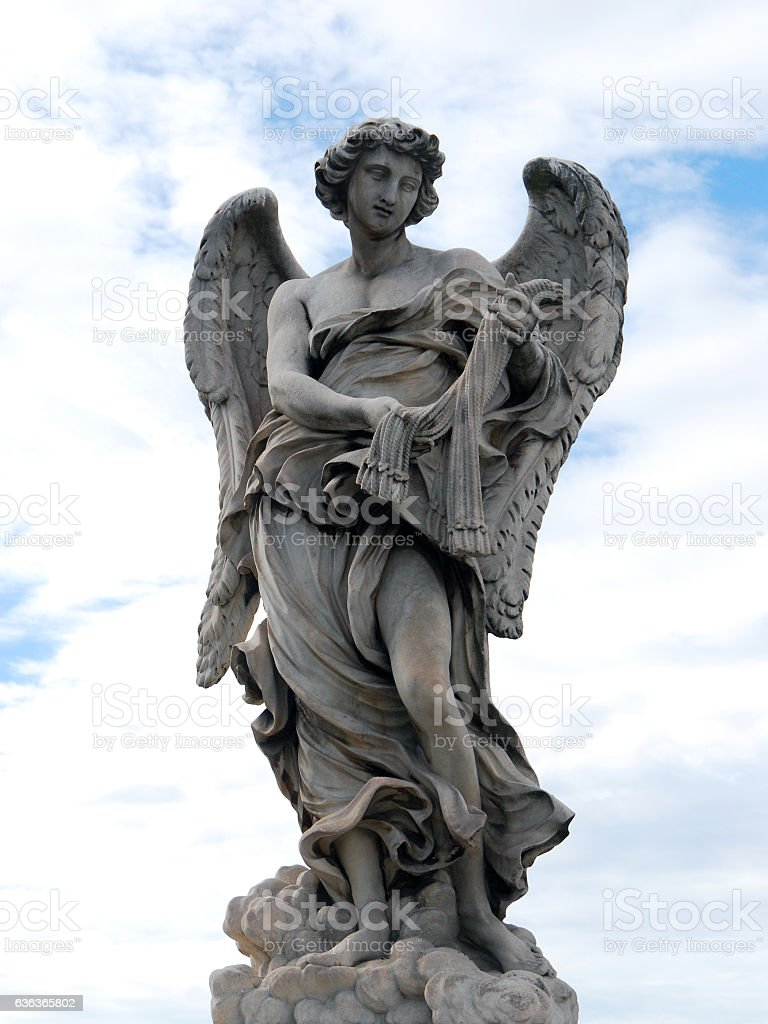 Bernini Angel Statue In Rome stock photo