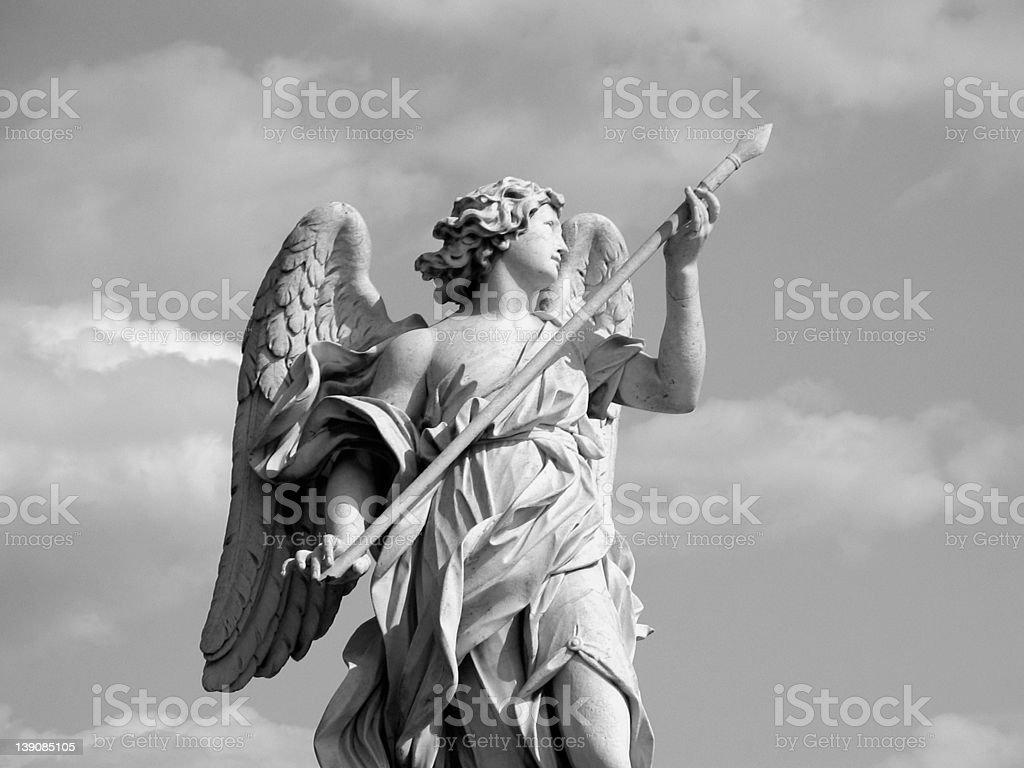 Bernini angel statue with lance royalty-free stock photo