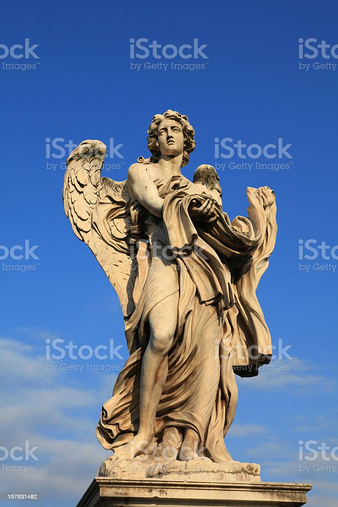Bernini Angels on Ponte Sant Angel, Rome, Italy stock photo