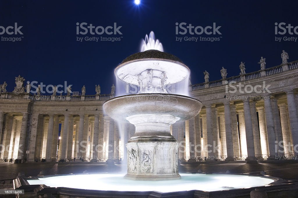 Bernini Fountain of Saint Peter's Square royalty-free stock photo