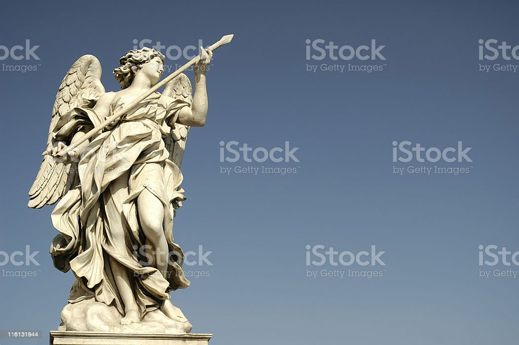 Bernini's angel, Rome royalty-free stock photo