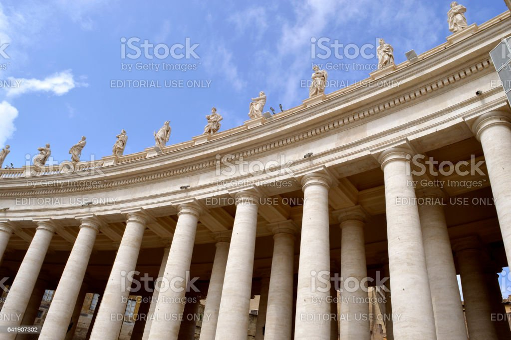 Bernini's Colonnade in St. Peter's Square the Vatican stock photo