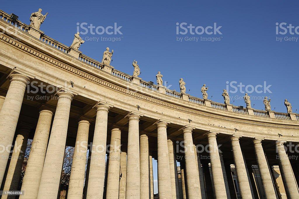Bernini's Colonnade Piazza San Pietro Rome Italy royalty-free stock photo