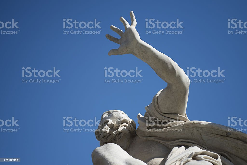 Bernini's Four River Fountain, close-up royalty-free stock photo