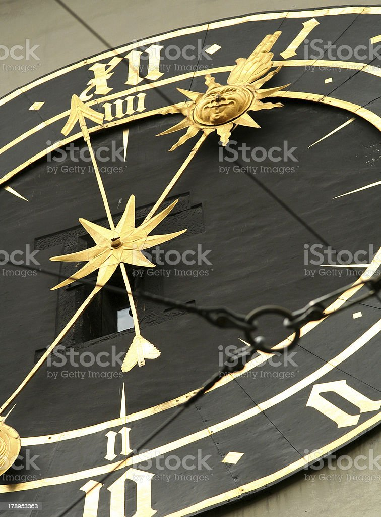 Bern's Clock royalty-free stock photo