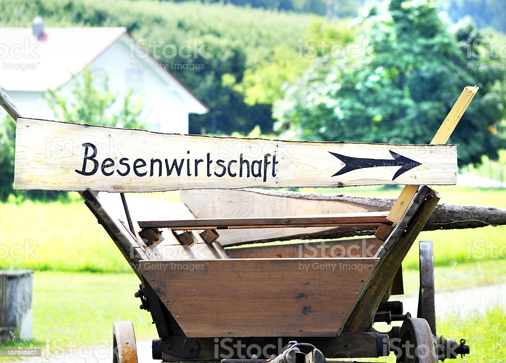 Besenwirtschaft am Bodensee stock photo