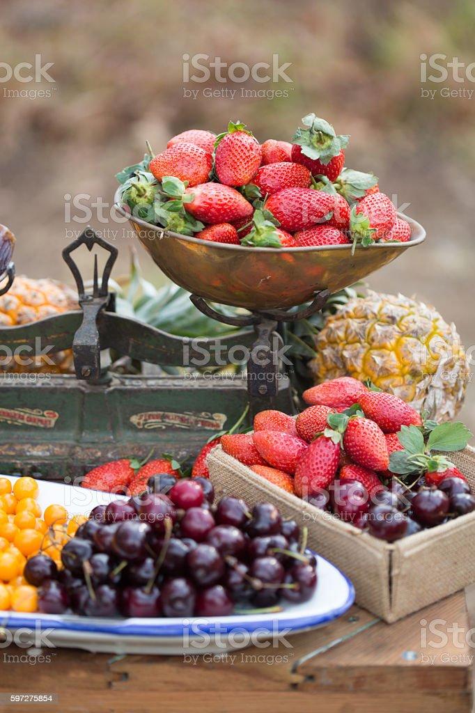 Berries and Cherries stock photo