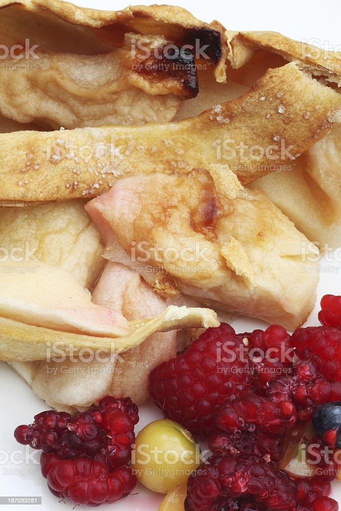 Berries and pie stock photo