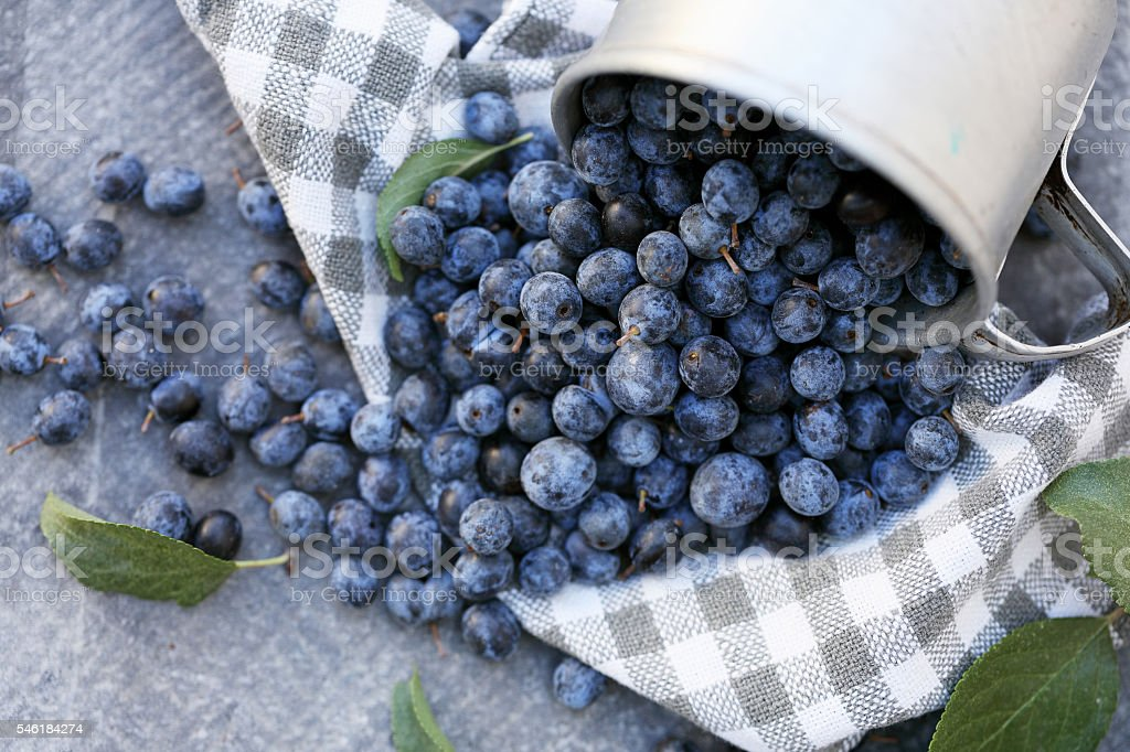 Berries are scattered stock photo