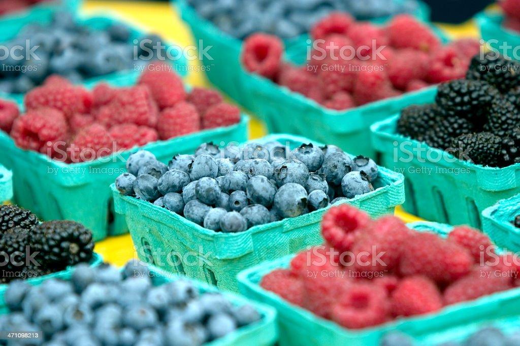 Berries at Market royalty-free stock photo