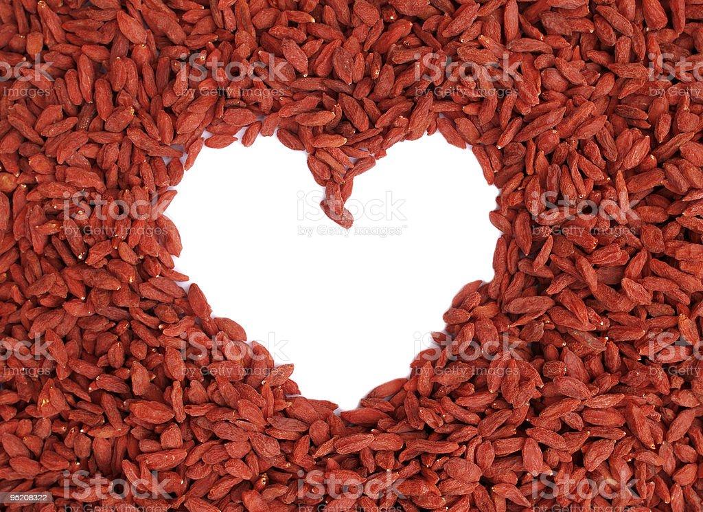 GOJI berries - heart royalty-free stock photo