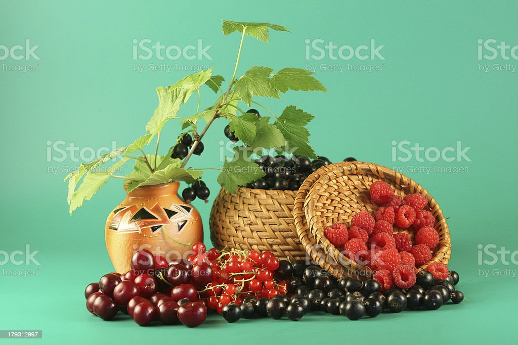 Berries in a basket. royalty-free stock photo