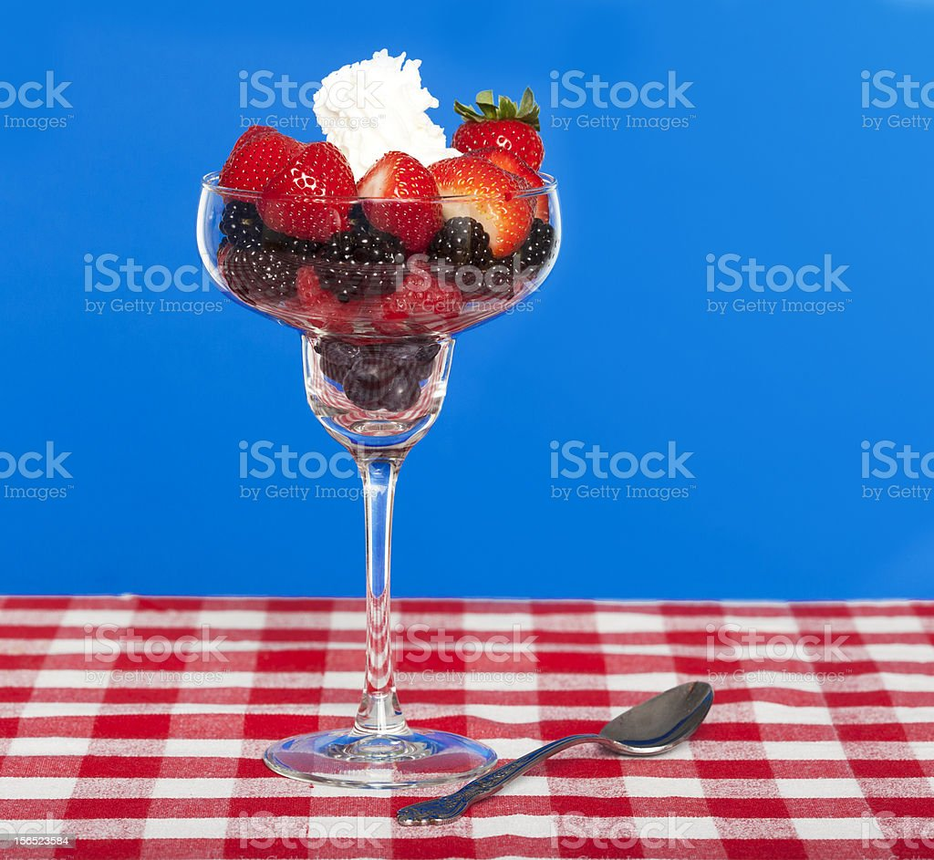 Berries in a glass royalty-free stock photo