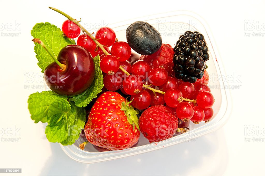 berries in a plastic box royalty-free stock photo