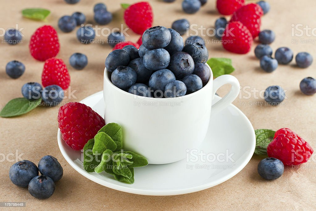 Berries in cup royalty-free stock photo