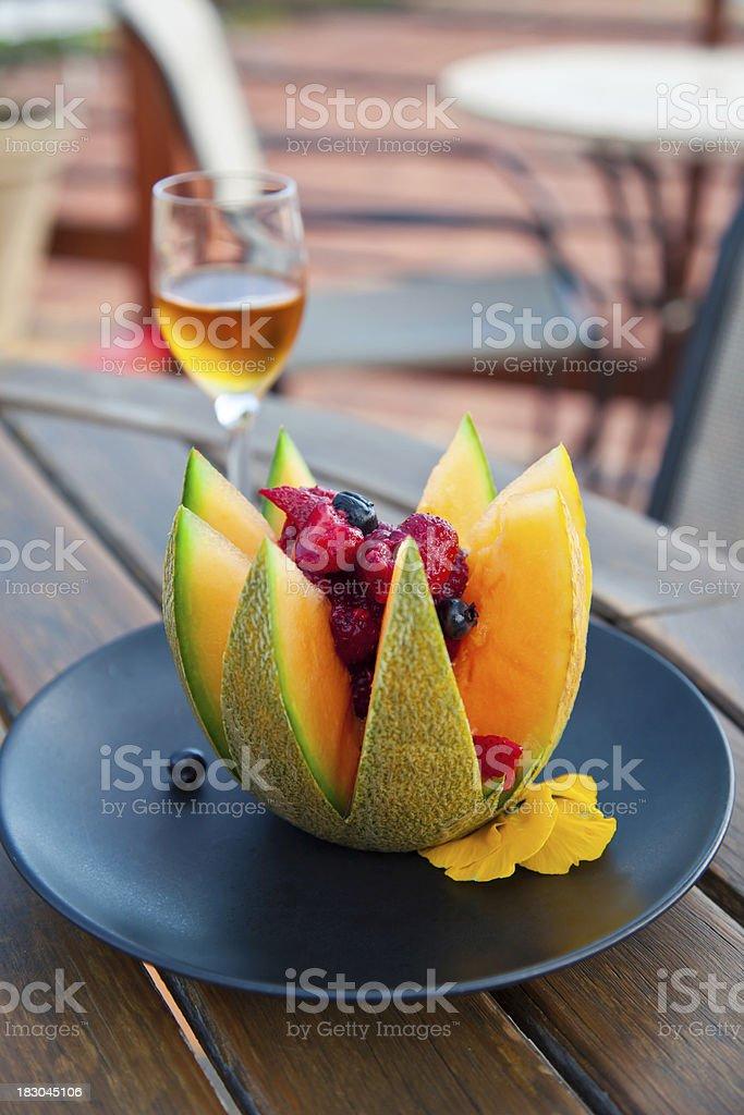 Berries & Melon stock photo