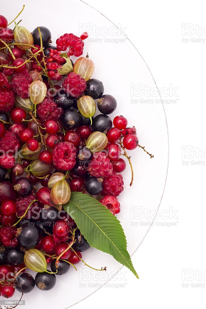 Berries on a plate royalty-free stock photo