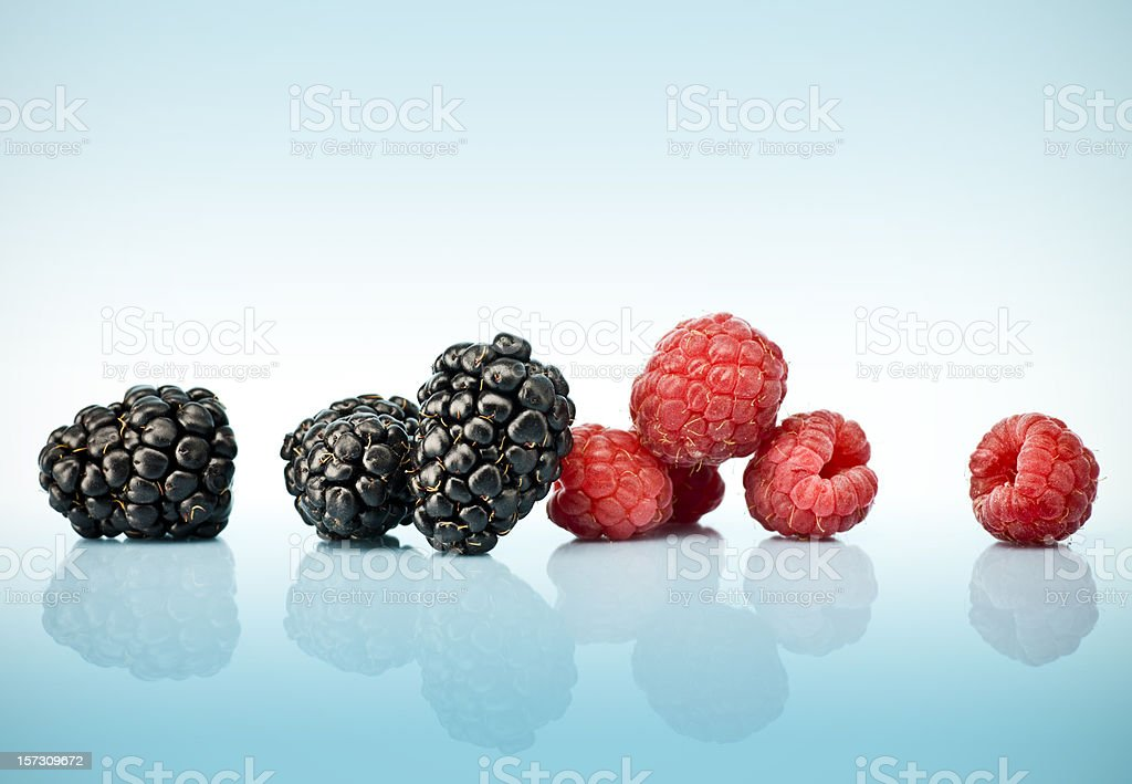 Berries on blue royalty-free stock photo