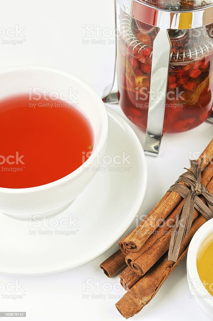 berries  tea royalty-free stock photo