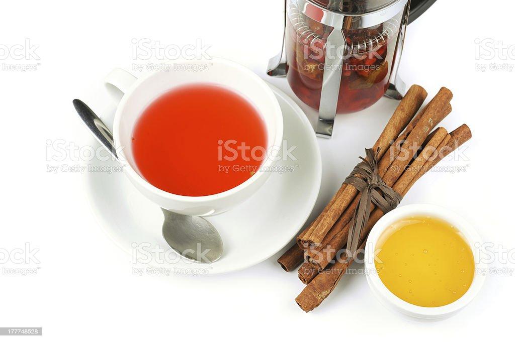 berries  tea royalty-free stock photo