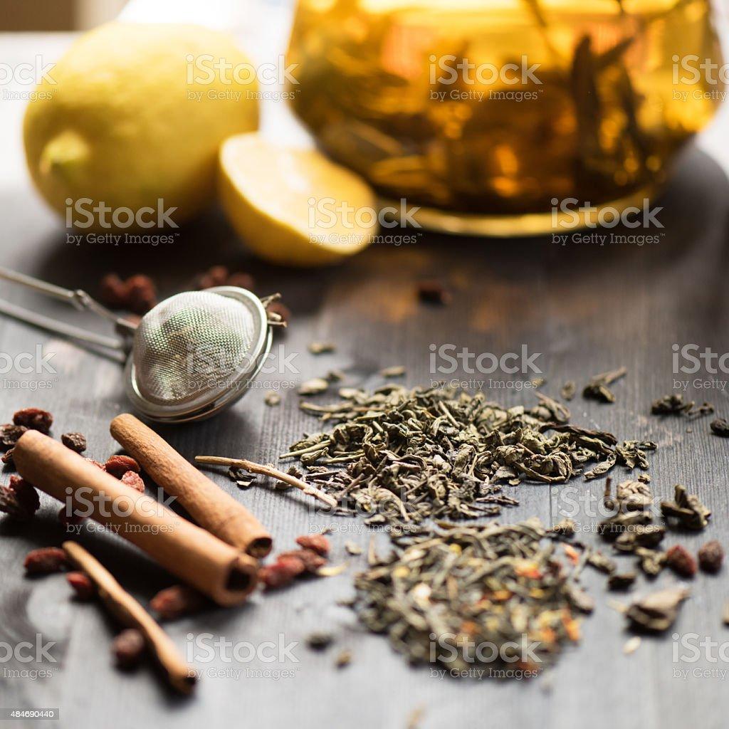 berries  tea stock photo