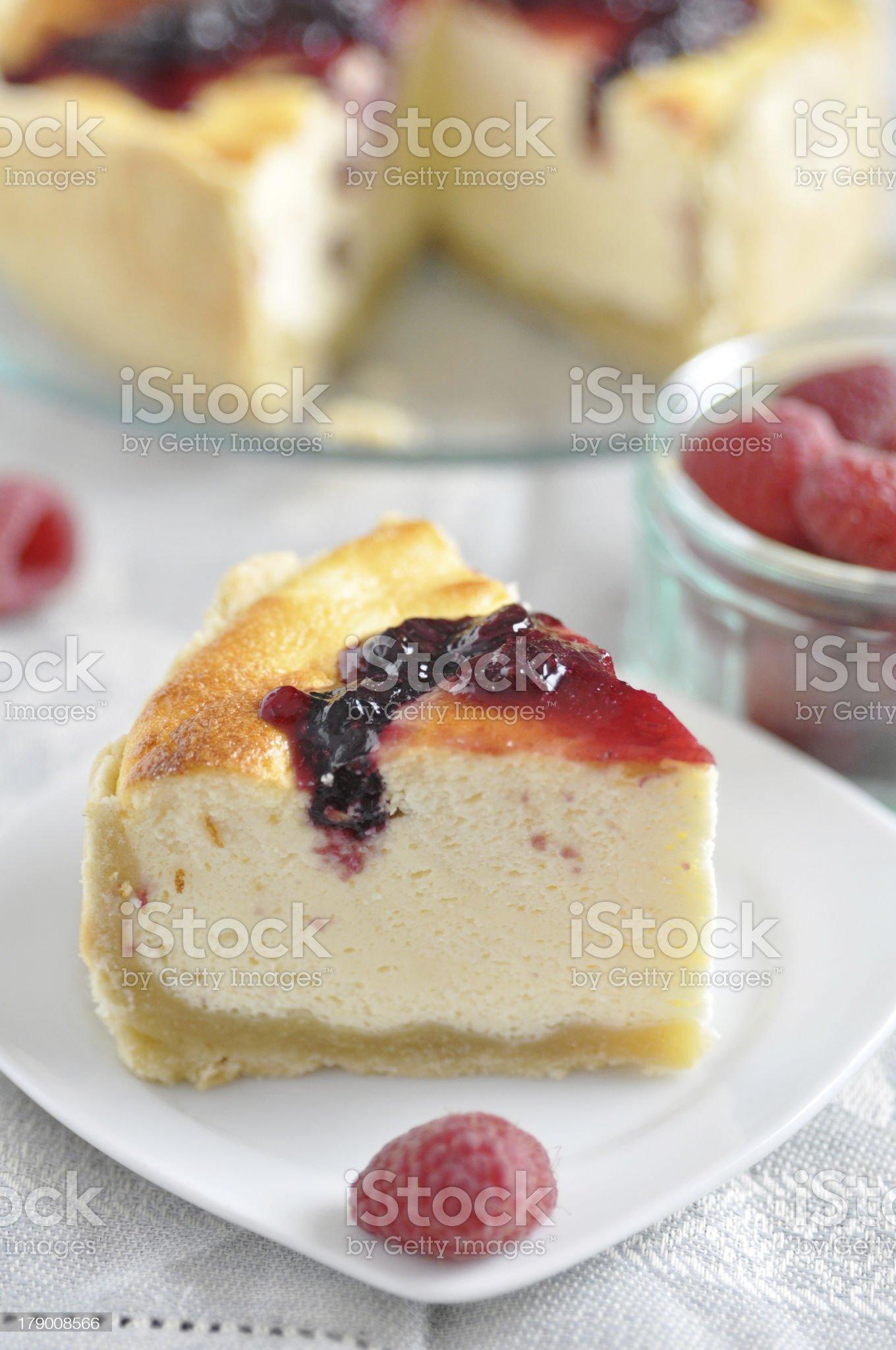 Berry Cheesecake royalty-free stock photo