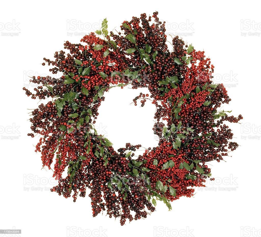 Berry Christmas Wreath royalty-free stock photo