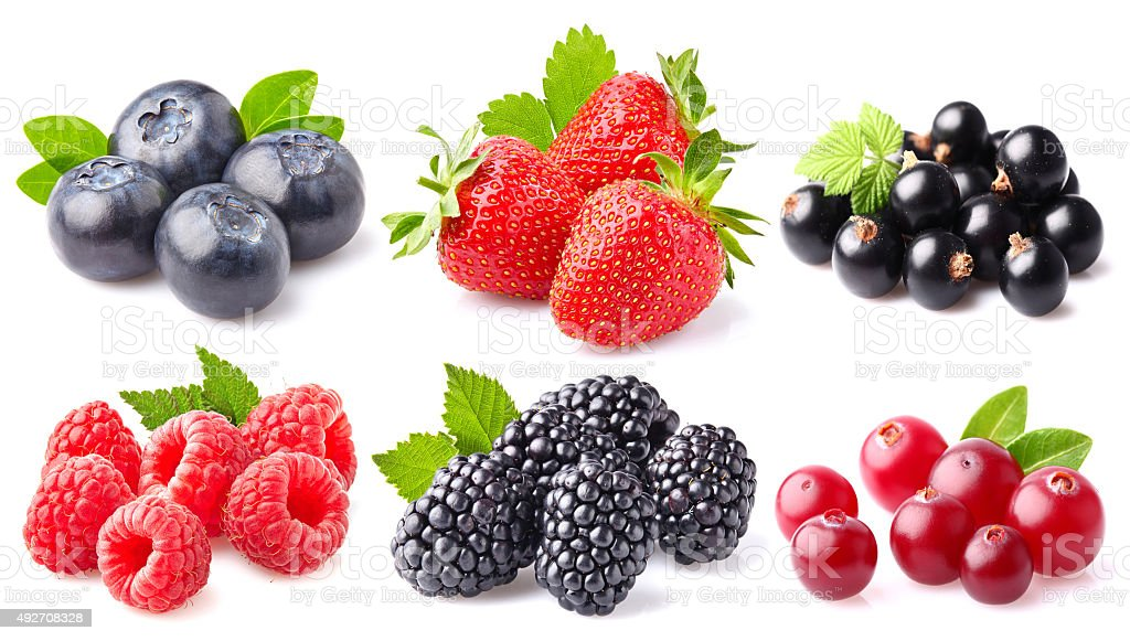 Berry collage stock photo