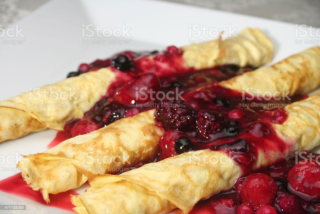 Berry Crepes royalty-free stock photo