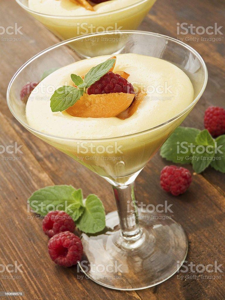 Berry dessert royalty-free stock photo