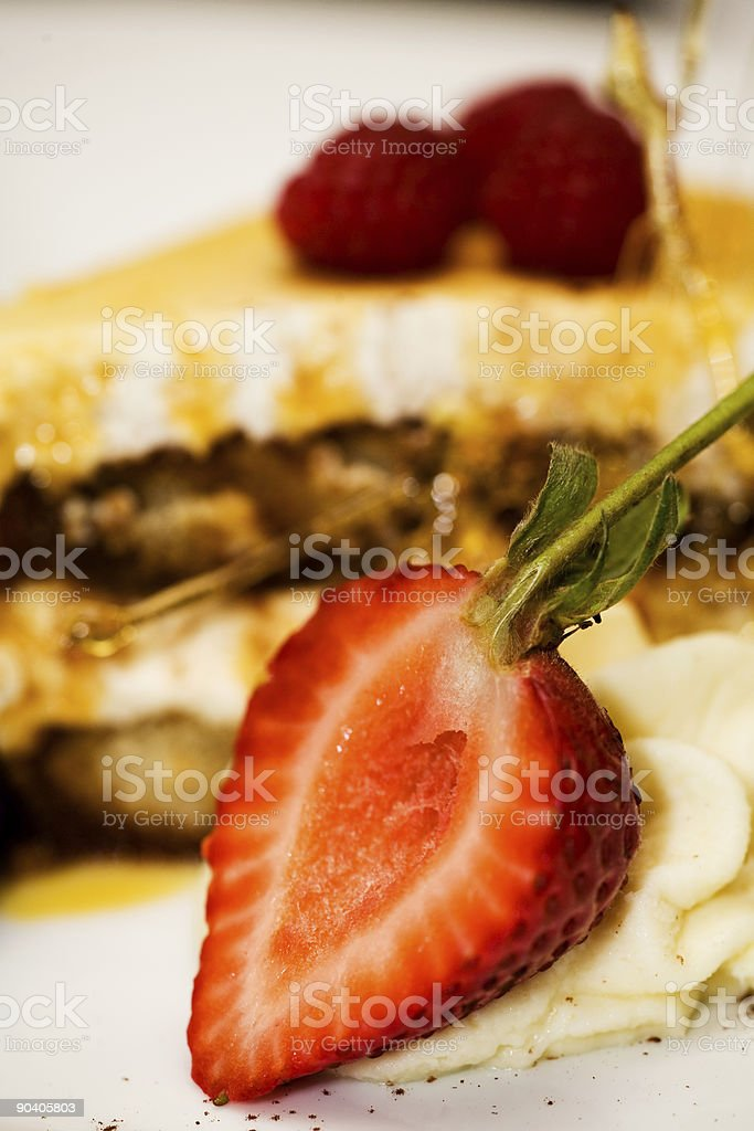Berry Dessert royalty-free stock photo