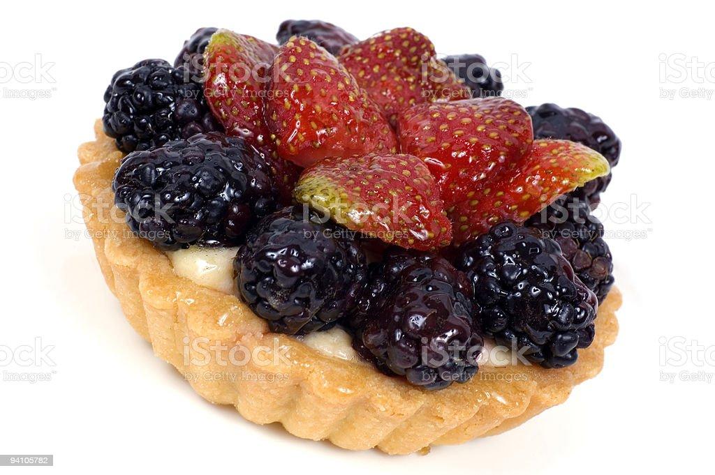 Berry Flan royalty-free stock photo