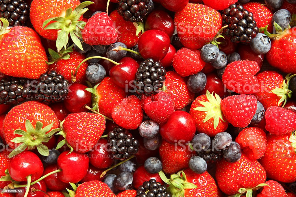 Berry Fruit Background stock photo