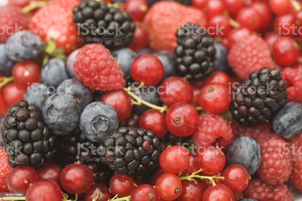 berry fruits - Waldbeeren Makro royalty-free stock photo