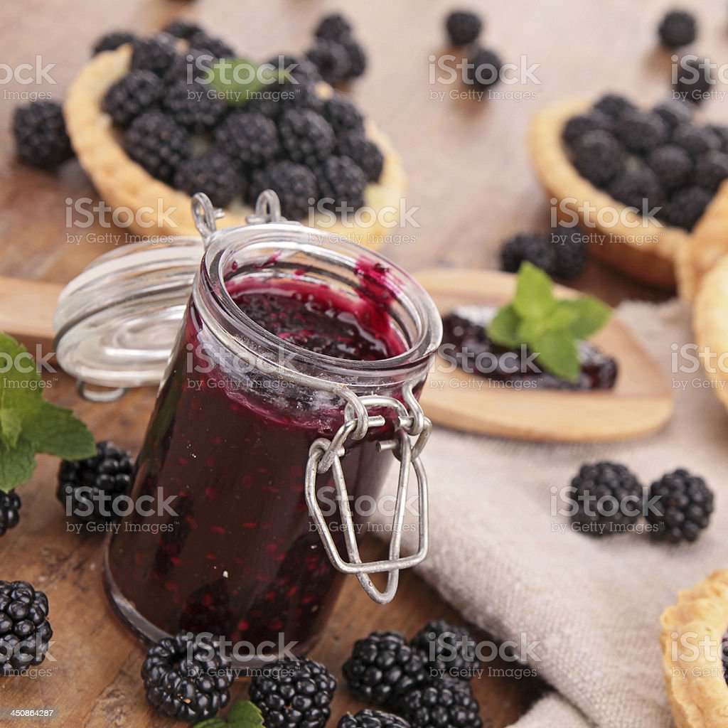 berry jam stock photo