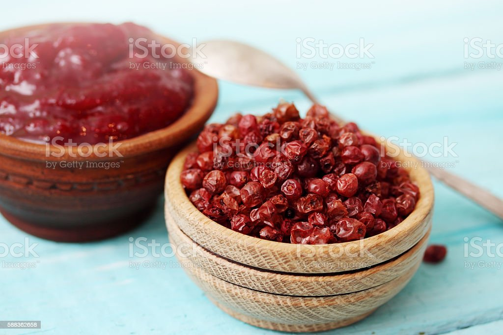 berry Lingonberry stock photo