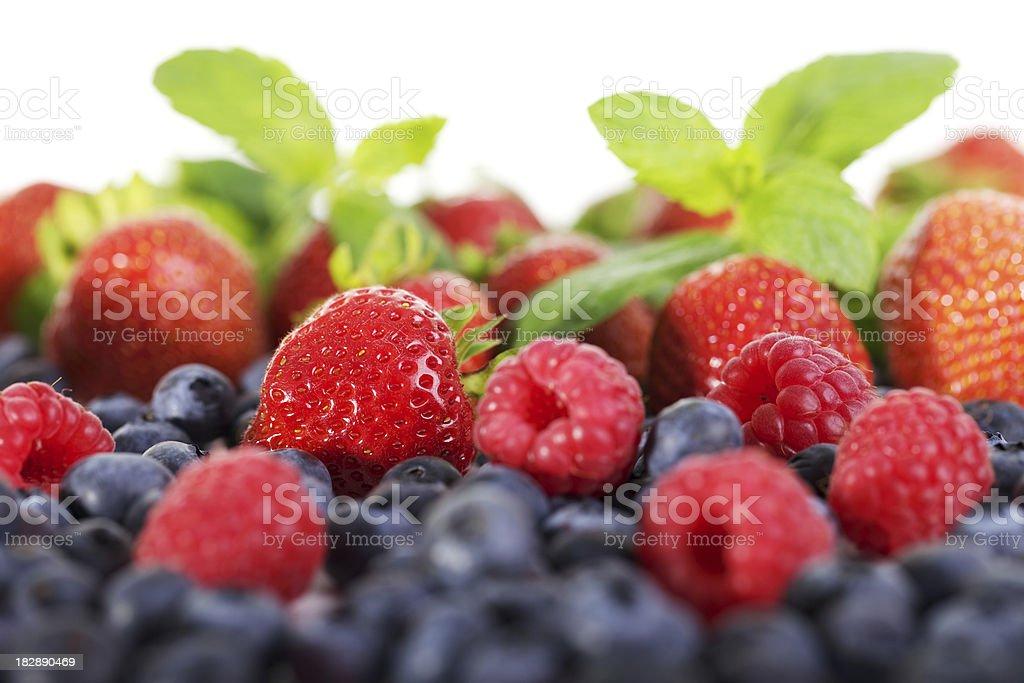 Berry medley royalty-free stock photo