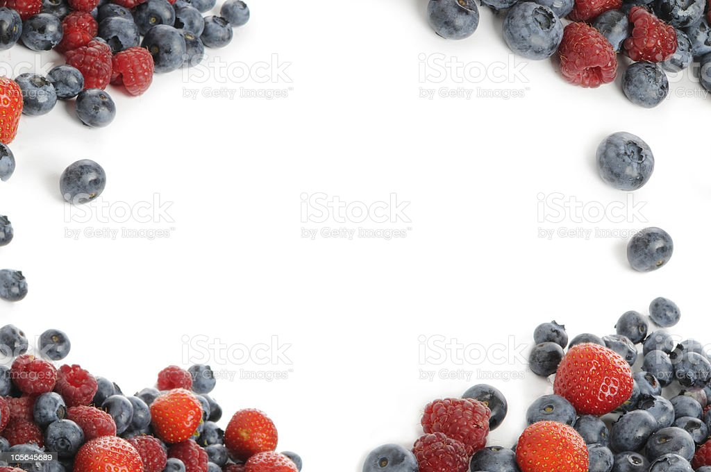 berry mixture for backgrounds stock photo