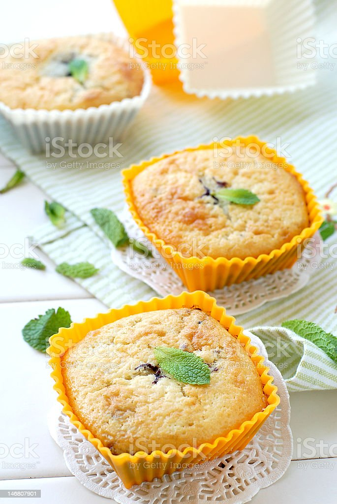 Berry muffins royalty-free stock photo