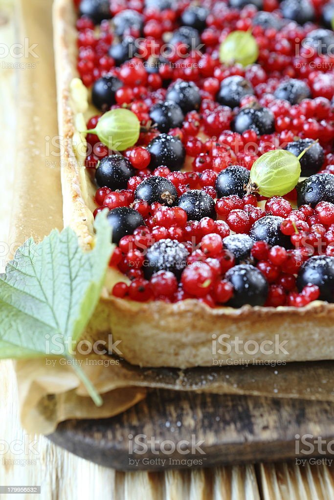 berry pie with currants royalty-free stock photo